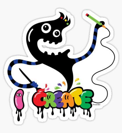 i create monster  Sticker