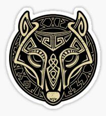 Viking wolf Sticker