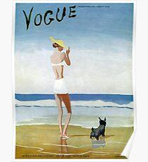VOGUE: Jahrgang 1937 Magazin Werbung Print Poster