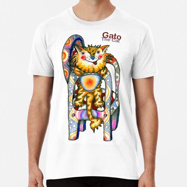 Gato el gato Camiseta premium