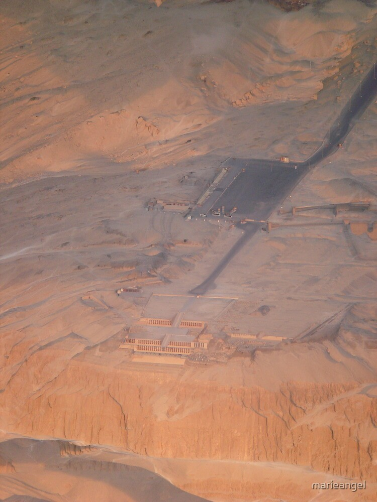 Valley of the kings Egypt from a hot air balloon by marieangel