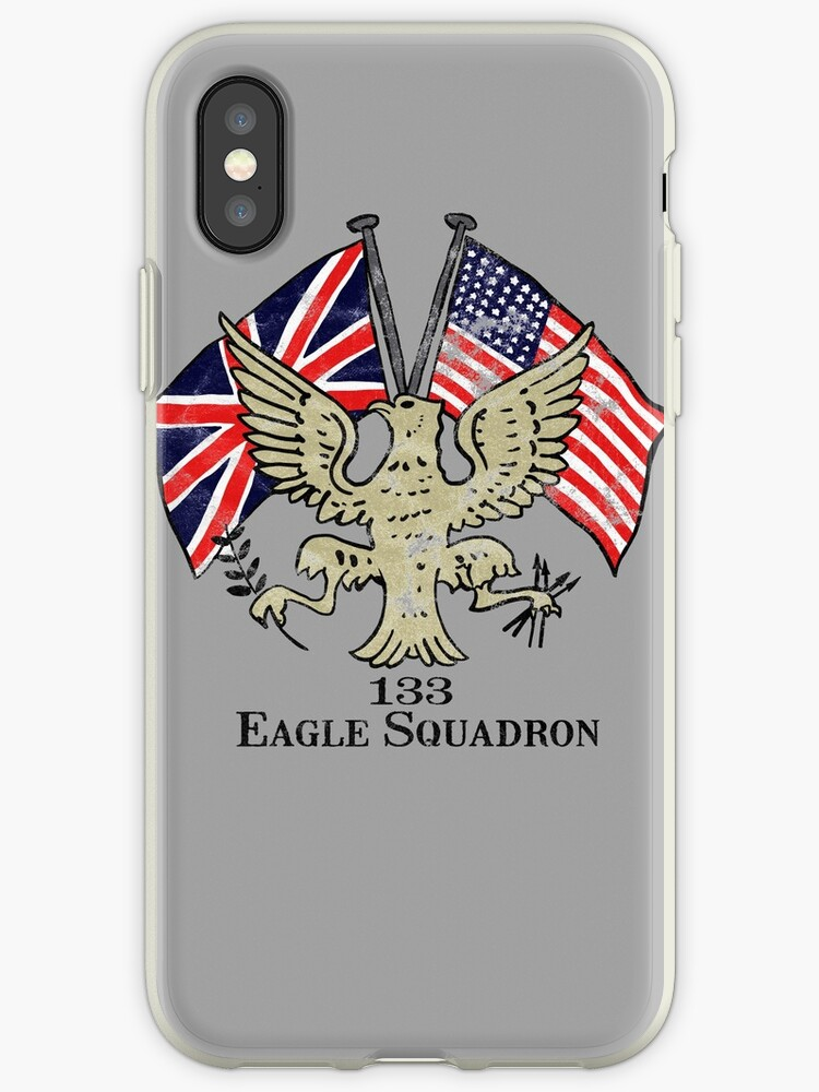 'Eagle Squadron WWII Insignia Design' iPhone Case by RealPilotDesign