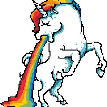 Puke Of The Unicorn by flipper42