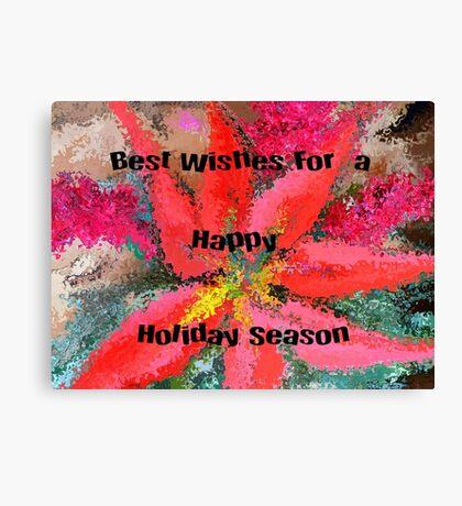Happy Holidays..Christmas Card Canvas Print