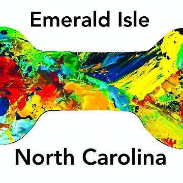 Emerald Isle Dog bone by barryknauff