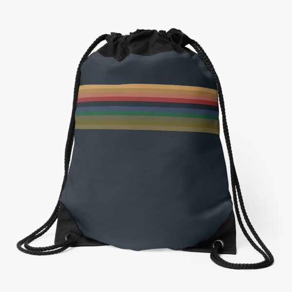 13th Doctor Pattern - Doctor Who Drawstring Bag