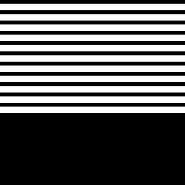 Black And White Stripes Above Black by rewstudio