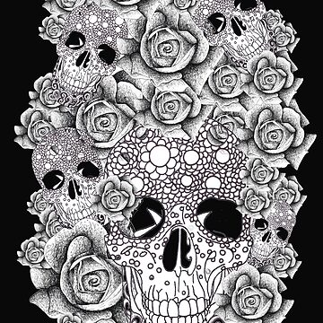 Vintage Skull and Roses Design  by Surrealist1
