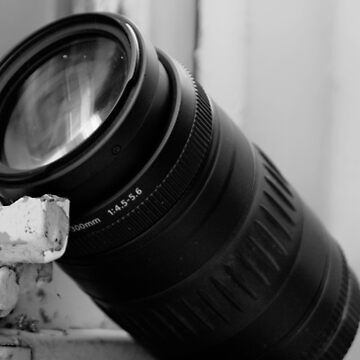 Camera lens in black and white by franceslewis