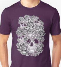 Vintage, skull, roses, flowers, retro, print Unisex T-Shirt
