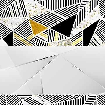 Frosted Glass Luxury Polygon Pattern by cadinera