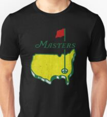 Weinlese-Retro Masters-Turnier Augusta Slim Fit T-Shirt