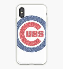 Chicago Cubs Typography Logo iPhone Case