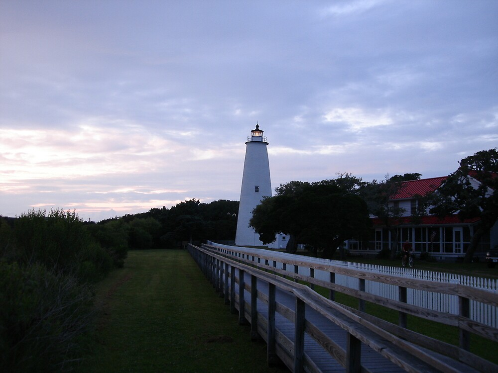 Ocracoke lighthouse by bobbarker86