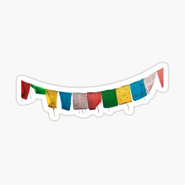 Tibetan Prayer Flags Sticker