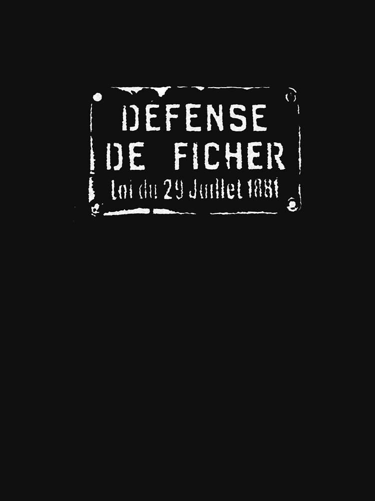 DEFENCE DE FICHER by shadai