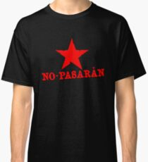 No Pasaran Red Star Slogan Classic T-Shirt