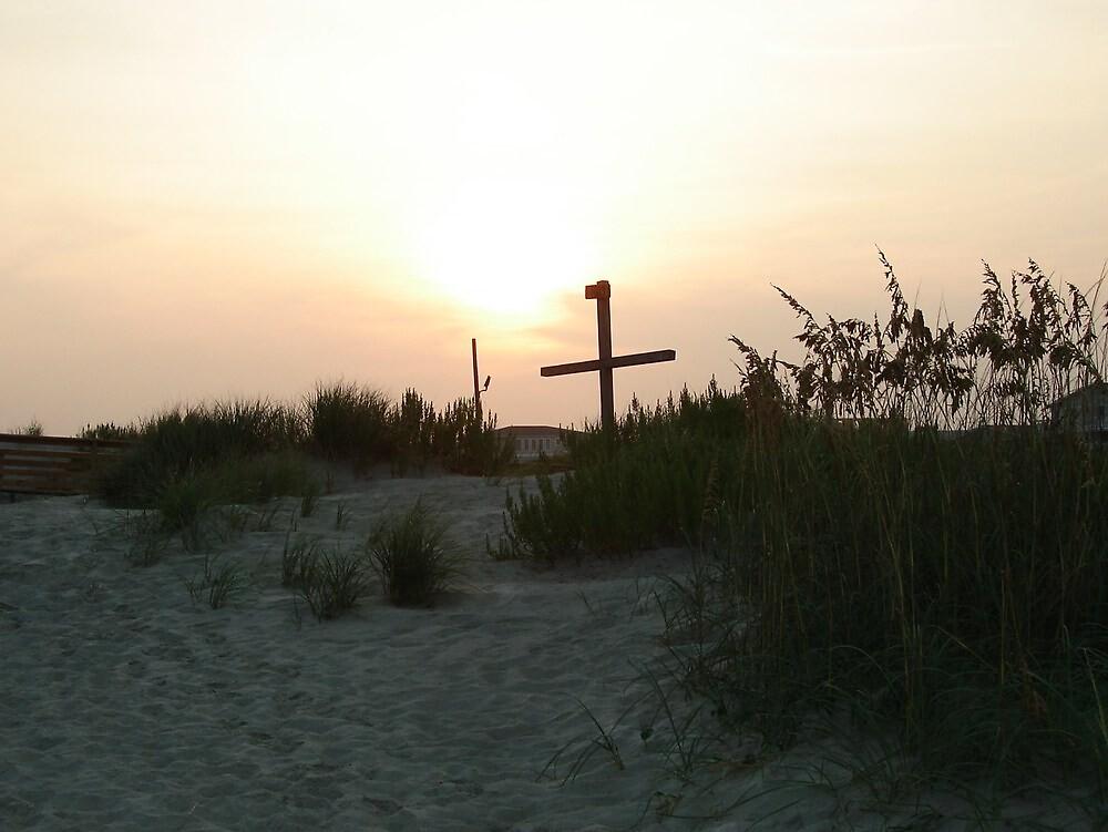 Sunset over Cross by bobbarker86