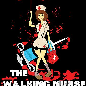 Walking Nurse Funny Halloween Shirt I Hollywood School by phskulmshirt