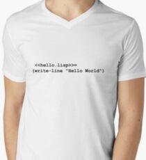 Hello World Lisp Mens V-Neck T-Shirt