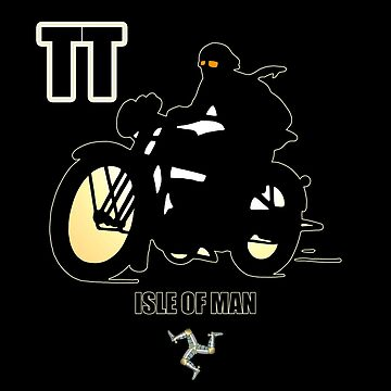 Isle Of Man TT Racers Retro Biker by thespottydogg