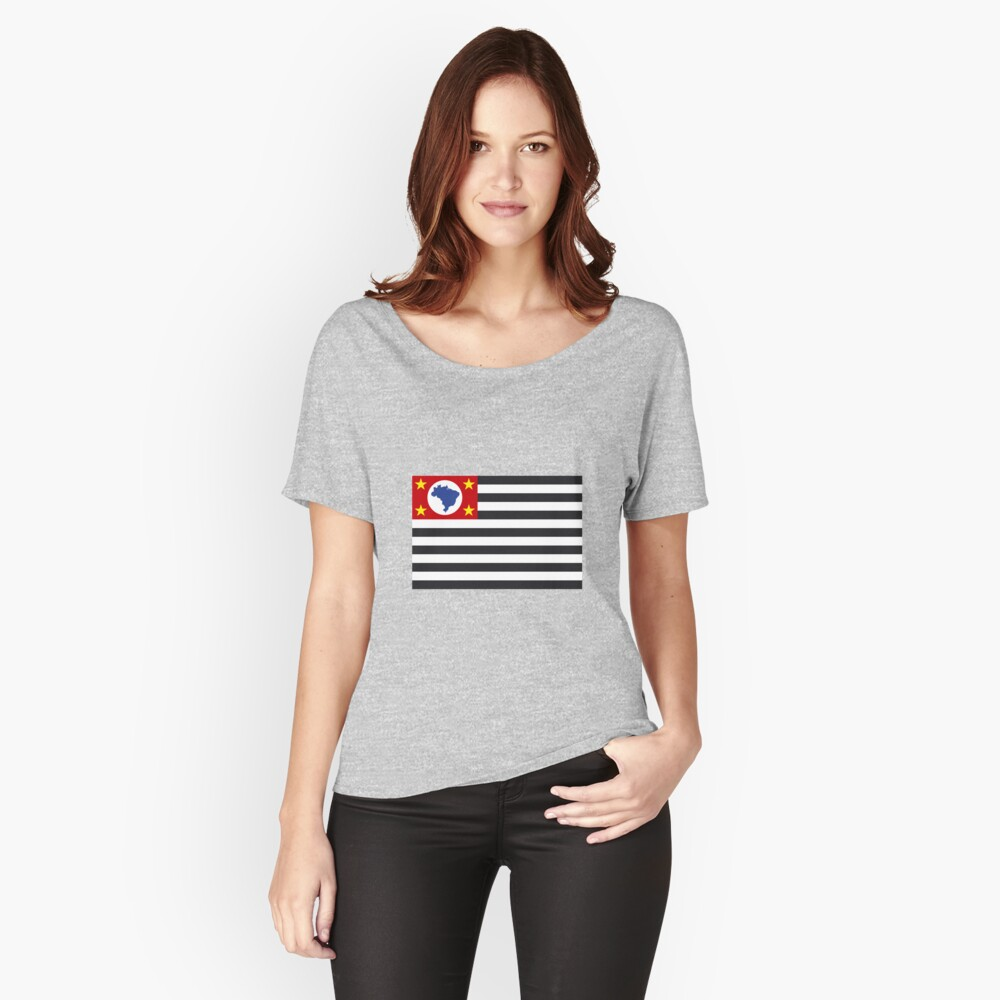 Flag of Sao Paulo Brazil Women's Relaxed Fit T-Shirt Front