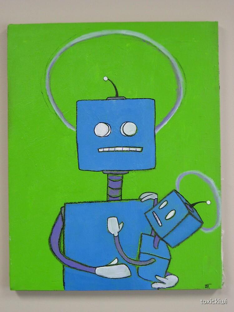 Robot Mary & Jesus by toxickiwi