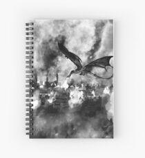 Inktober Day 19: Scorched Spiral Notebook