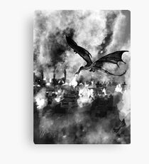 Inktober Day 19: Scorched Canvas Print