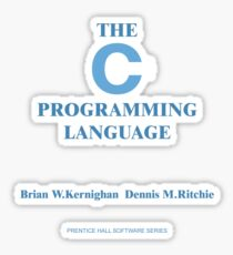 Kernighan and Ritchie Sticker