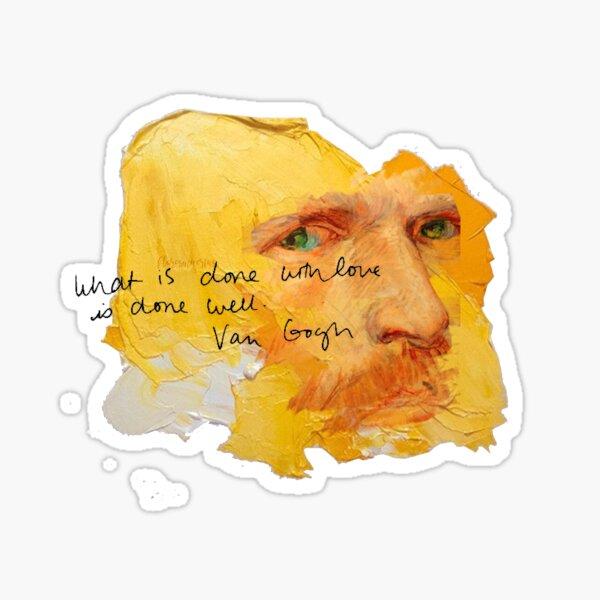 Van Gogh Kunst mit Zitat Sticker