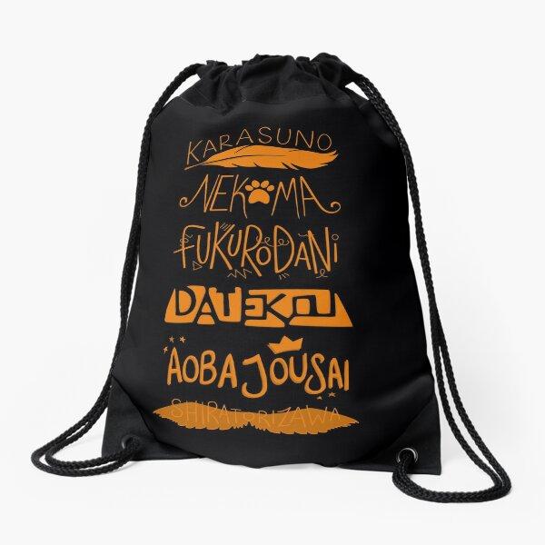 Haikyuu!! Teams - Karasuno Orange Drawstring Bag