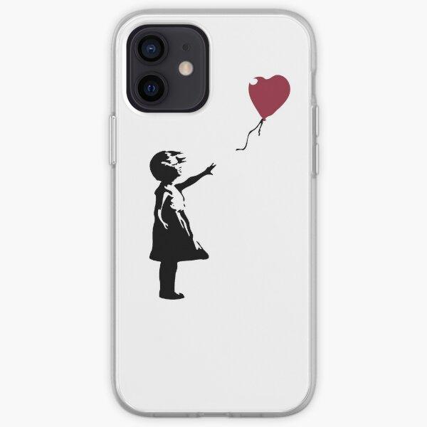 Girl With Red Balloon, Banksy, Streetart Street Art, Grafitti, Artwork, Design For Men, Women, Kids iPhone Soft Case