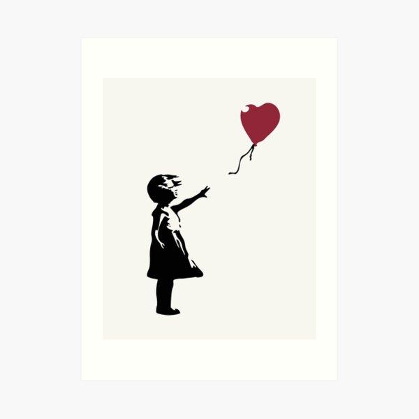Girl With Red Balloon, Banksy, Streetart Street Art, Grafitti, Artwork, Design For Men, Women, Kids Art Print