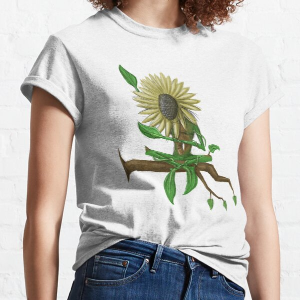 sunflower sunbathing on branch -tee Classic T-Shirt