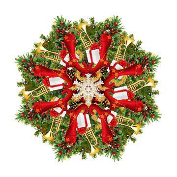 Traditional Christmas Mandala  by burenkaUA