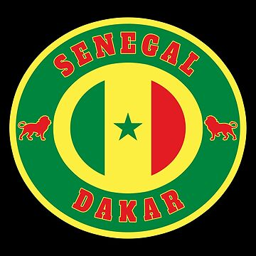 Senegal Dakar / Gift Lion Flag Africa State by Rocky2018