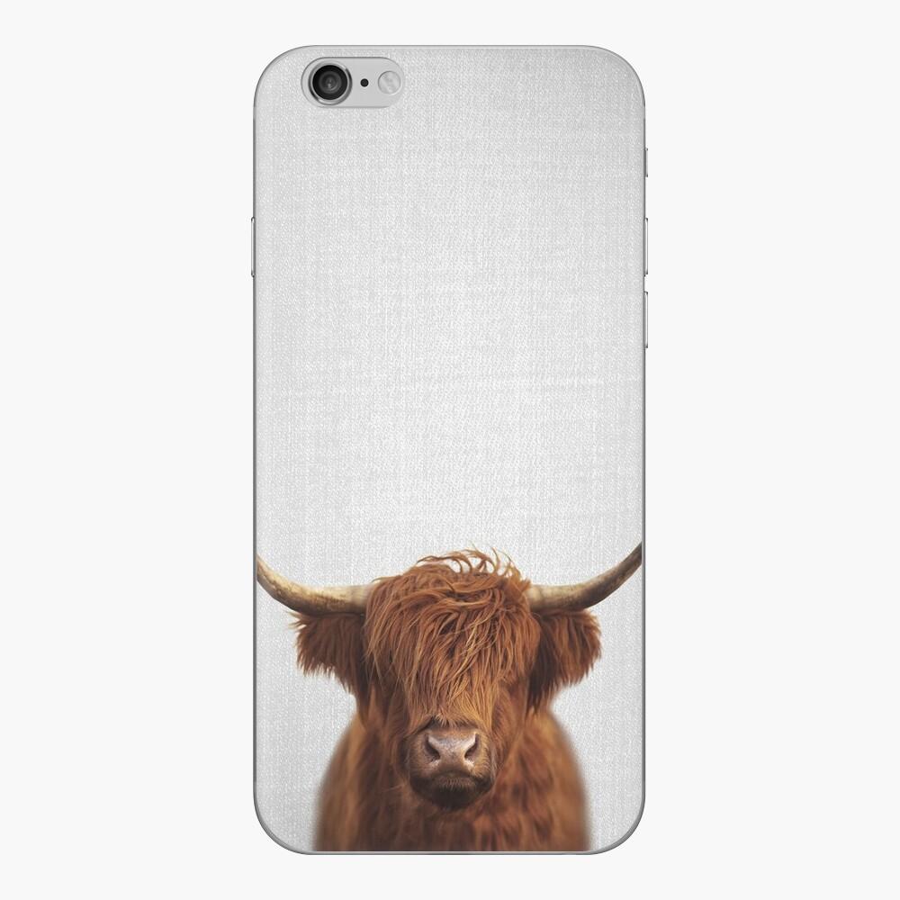 Hochland-Kuh - bunt iPhone Klebefolie