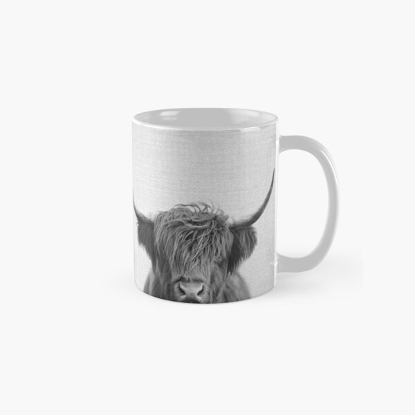 Highland Cow - Black & White Classic Mug