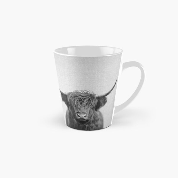 Highland Cow - Black & White Tall Mug