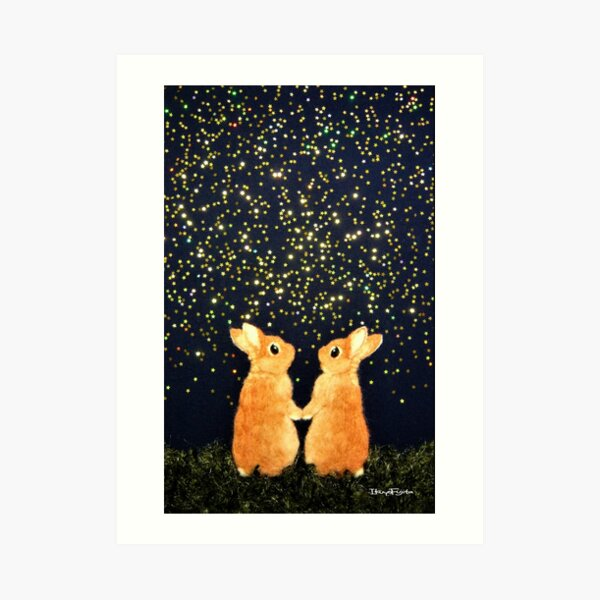 looking for shooting stars (2008) Rabbit / Bunny Art Art Print