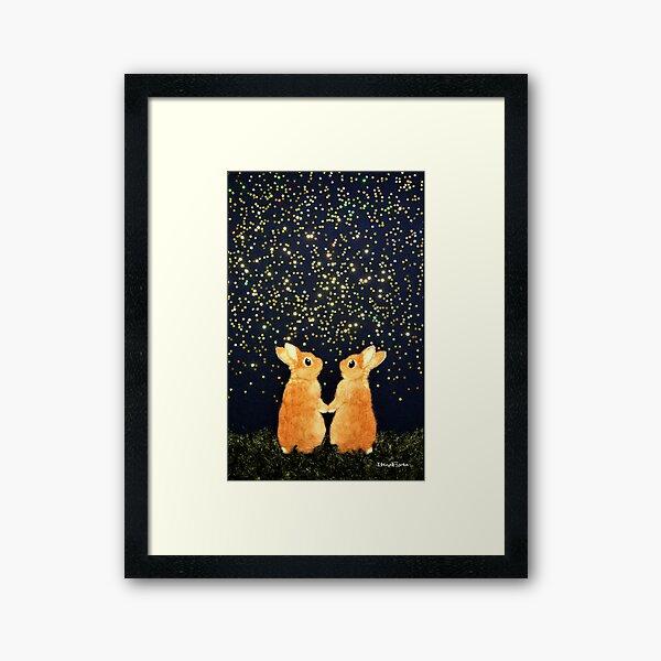 looking for shooting stars (2008) Rabbit / Bunny Art Framed Art Print