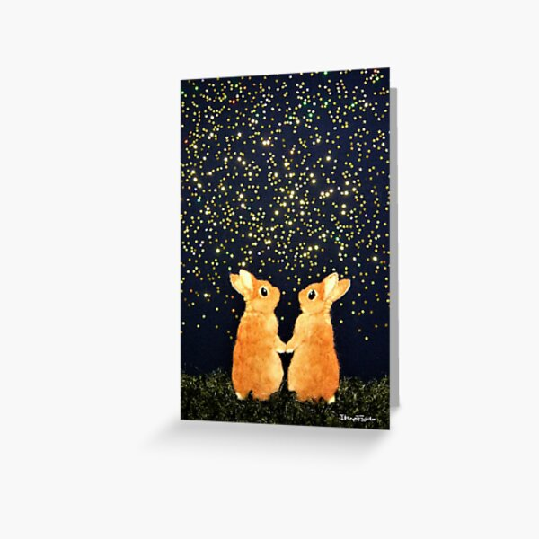 looking for shooting stars (2008) Rabbit / Bunny Art Greeting Card