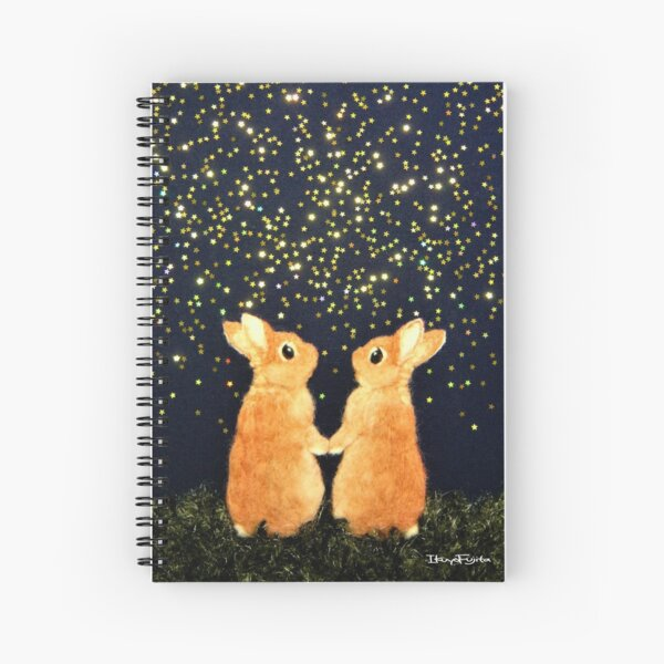 looking for shooting stars (2008) Rabbit / Bunny Art Spiral Notebook