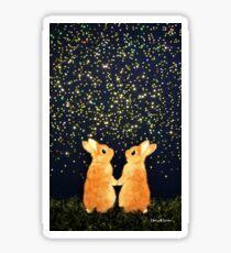looking for shooting stars (2008) Rabbit / Bunny Art Sticker