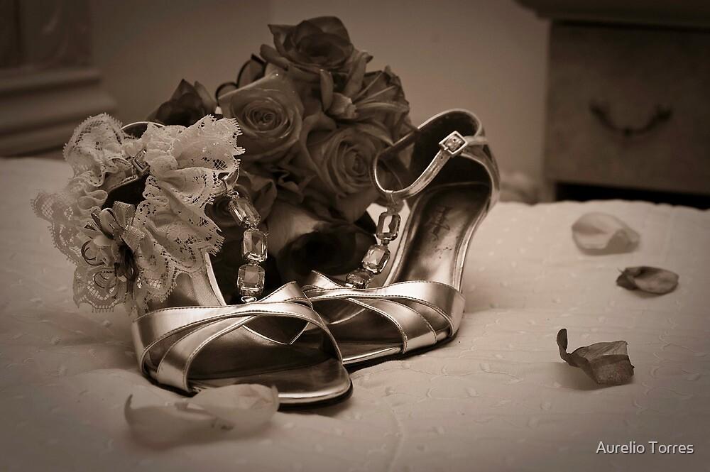 Bouquet, Shoes, & Garter by Aurelio Torres