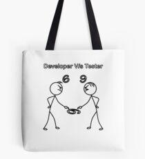 Developer vs Tester 6/9 Tote Bag