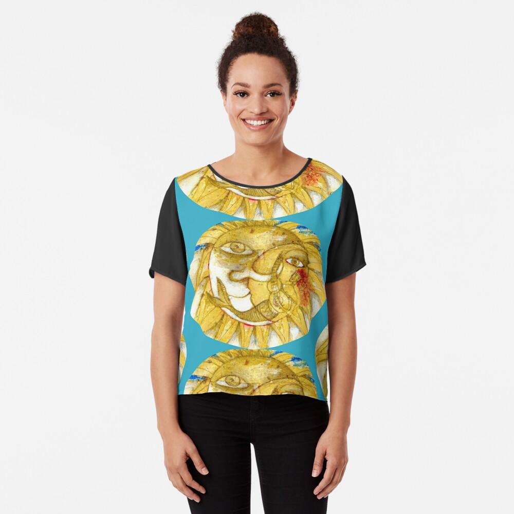 The Golden Sun Chiffon Top