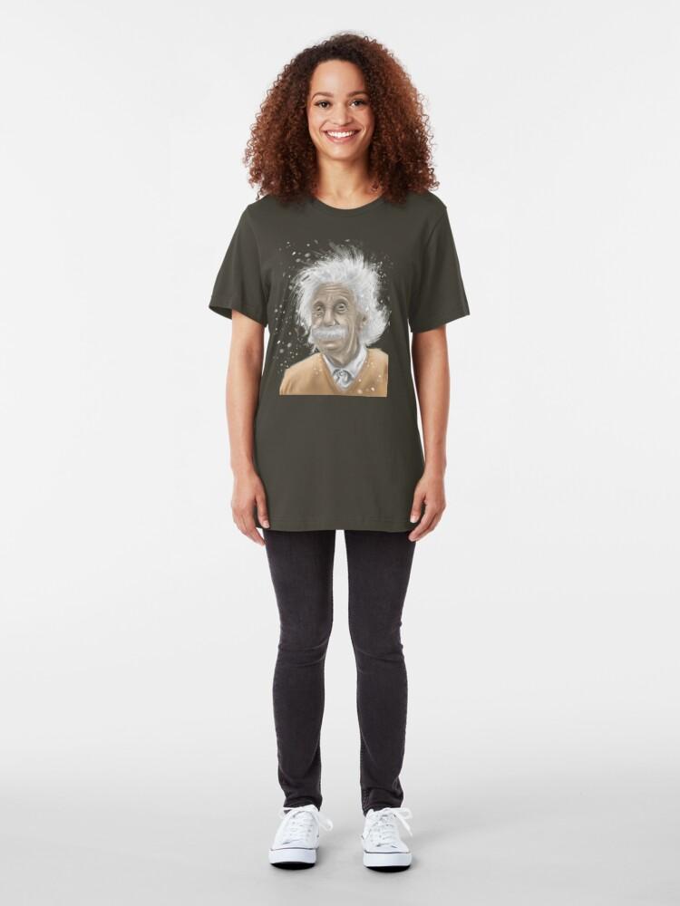 Alternate view of Albert Einstein -mastermind tee Slim Fit T-Shirt