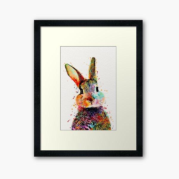 Rabbit Watercolor Art Work  Framed Art Print